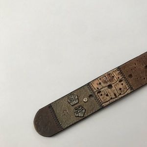 Fossil Accessories - Fossil   Leather Boho Patchwork Stud Embossed Belt